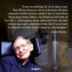 Stephen Hawking - Zitat - Aufgeben