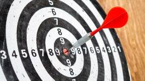 Zielscheibe - Ziel - Erfolg